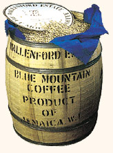 Typické balení kávy Blue Mountain