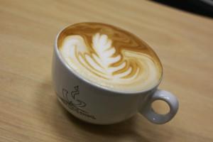 Latte art COVIM cappuccino